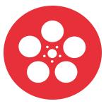 bobine de cinéma rouge
