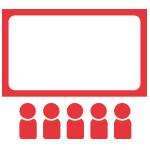 icone écran et public