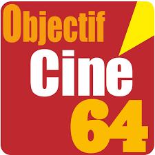 logo objectif ciné 64 rouge et jaune