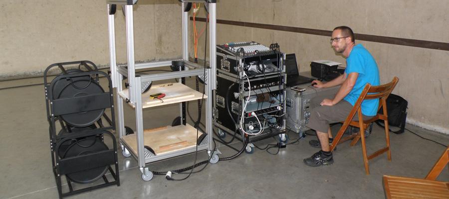 projectionniste et matériel